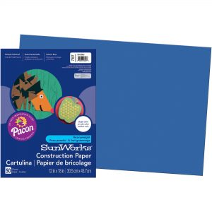 Blue Construction Paper