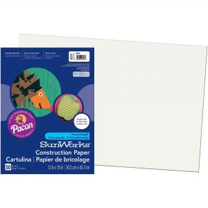 White Construction Paper