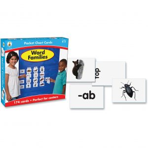 Word Families Pocket Chart Card Set