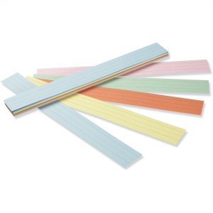 Assorted Colored Sentence Strips