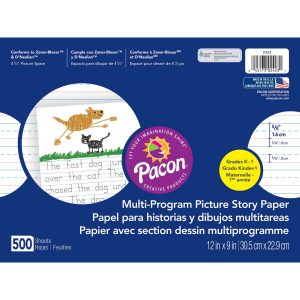 Ruled Picture Story Paper