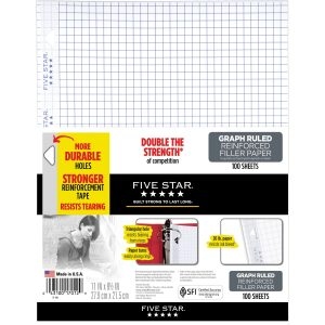 Reinforced Graphing Filler Paper