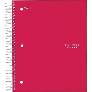 Five Star 5-Subject Spiral Notebook