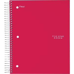 Five Star 5-Subject Spiral Notebook